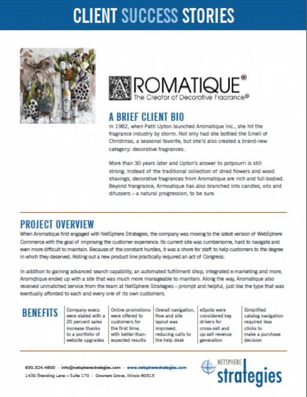 Aromqtique Case Study